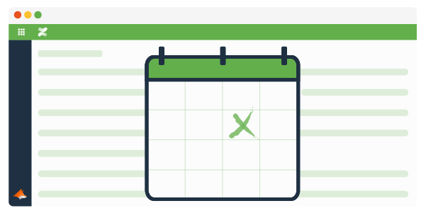 Confluence page with a calendar infront