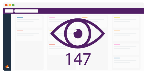 Trello Board with an eye over it and the number 147