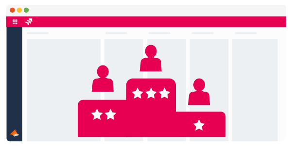 Jira system with three people on a podium