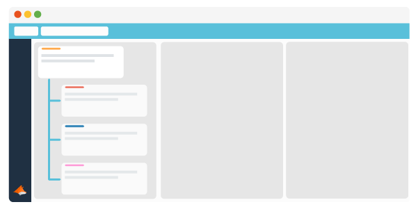 Trello Cards organised in a parent and child hierarchy