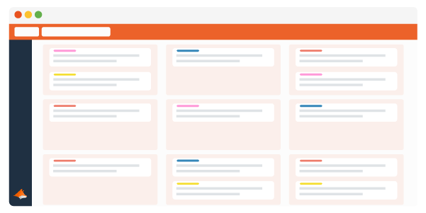 Trello Cards organised in a two dimensional grid