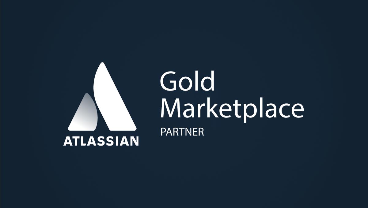 Dark grey background with Gold Marketplace Partner bage