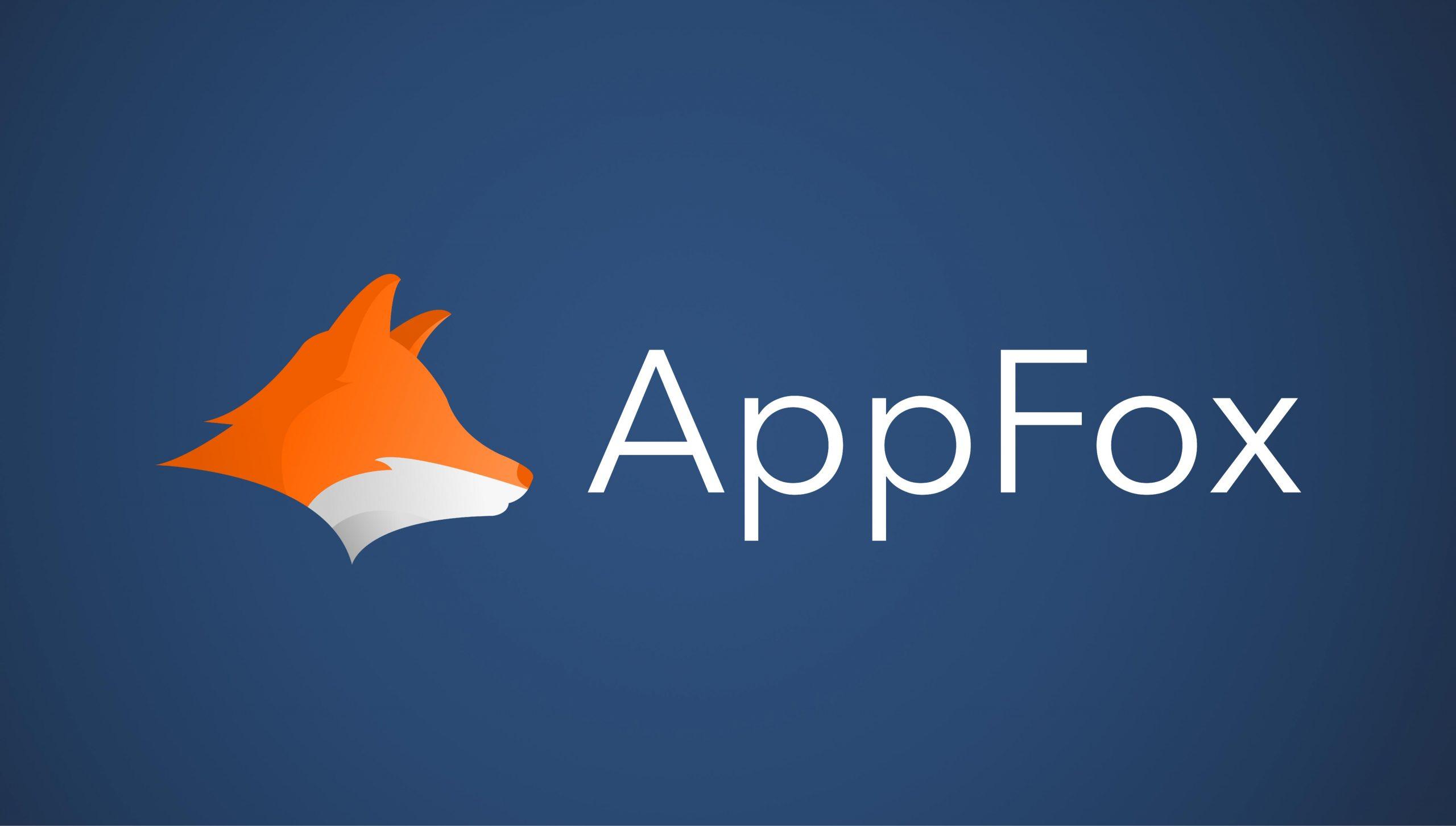 AppFox Logo on a dark blue background