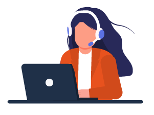 Lady on a virtual call